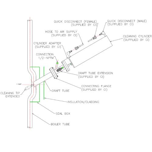 Draft Pipe Cleaner diagram
